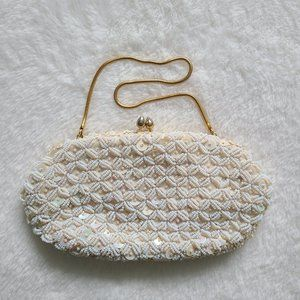 Handmade vintage beaded clutch